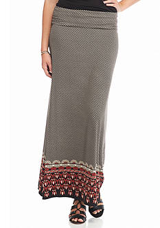 Sophie Max Printed Rayon Jersey Skirt