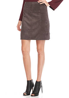 Sophie Max Luxe Faux Suede Skirt