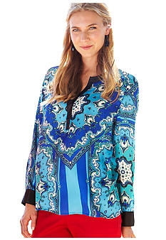 Chenault Clothing Print Tunic Blouse
