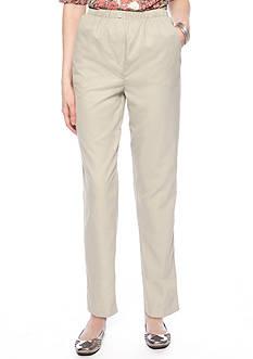 Kim Rogers Petite Microfiber Pull-On Pants - Petite Short