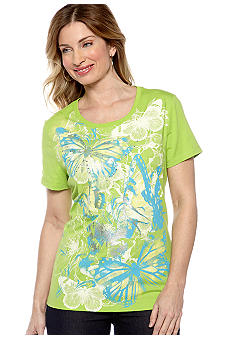 Kim Rogers Scoop Neck Butterfly Art Tee