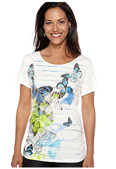 Kim Rogers Butterfly Art Short Sleeve Tee