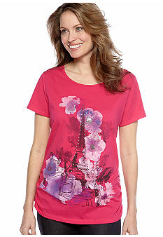 Kim Rogers Short Sleeve Eiffel Tower Tee