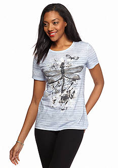 Kim Rogers Striped Dragonfly Tee