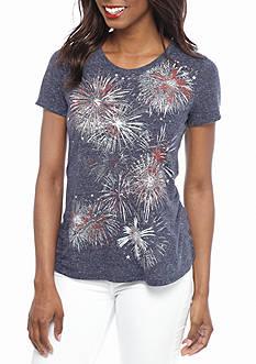 Kim Rogers Fireworks Swing Knit Top