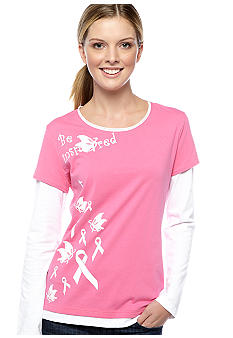 be inspired Double Layer Breast Cancer Tee