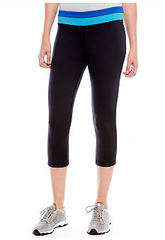 be inspired Crop Pant with Color Block Waist