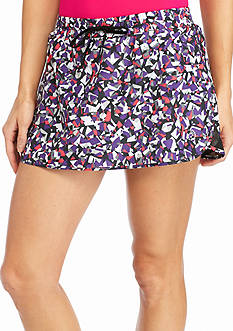 be inspired Printed Woven Skort
