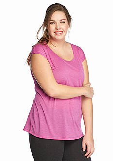 be inspired Plus Size Pleated Back Tee
