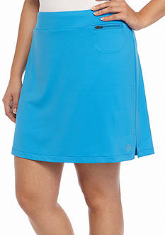 be inspired Plus Size Basic Solid Skort