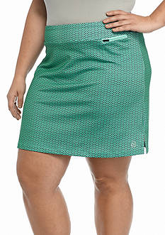 be inspired Plus Size Basic Printed Skort