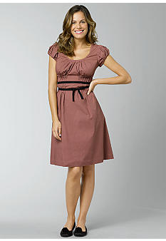 Kristin DavisPoplin Tie Waist Smocked Dress