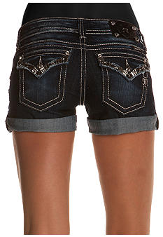 Miss Me Flap Pocket Jean Short
