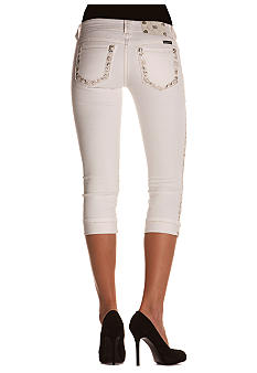 Miss Me Border Pocket Capri