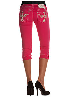 Miss Me Cross Pocket Capri