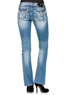 Miss Me Heavy Stitch Flap Pocket Boot Cut Jean