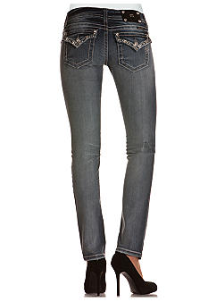 Miss Me Embellished Flap Pocket Skinny Jean