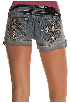 Miss Me Cross Pocket Rolled Jean Short