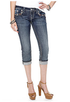 Miss Me Star Pocket Denim Capris