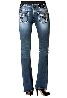 Miss Me Wing Pocket Bootcut Jean