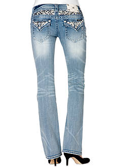 Miss Me Embellished Yoke Flap Pocket Boot Cut Jean