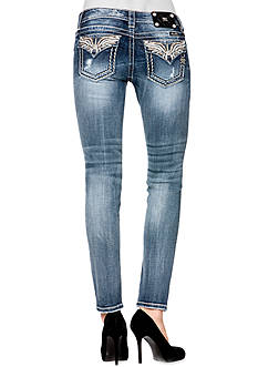 Miss Me Wing Flap Pocket Skinny Jean