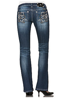 Miss Me Rose Pocket Bootcut Jean