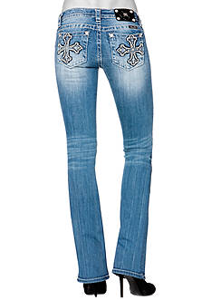 Miss Me Cross Pocket Boot Cut Jean