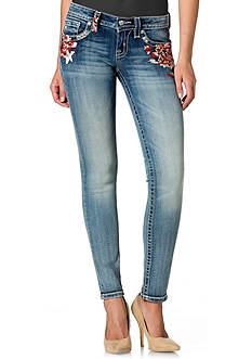Miss Me Color Embellished Skinny Jean