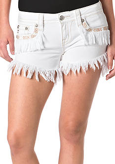 Miss Me Frayed Fringe Shorts