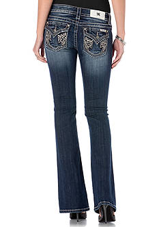 Miss Me Wing Flap Pocket Bootcut Jeans
