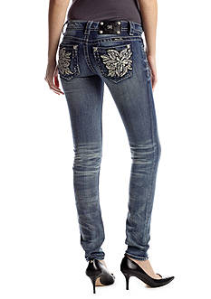 Miss Me Flower Pocket Skinny Jean
