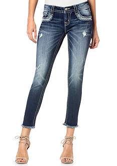 Miss Me Skinny Frayed Ankle Jeans