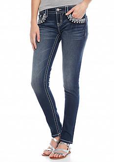 Miss Me Rhinestone Embellished Skinny Jeans