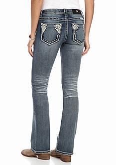 Miss Me Feather Pocket Bootcut Jeans