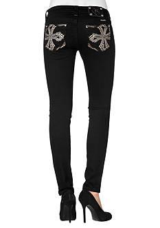 Miss Me Cross Back Pocket Skinny Jean