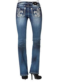 Miss Me Fleur De Lis Boot Cut Jean