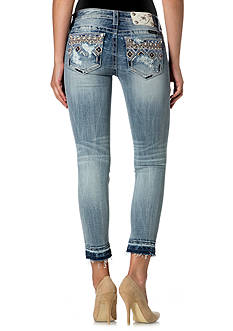 Miss Me Embellished Pocket Ankle Skinny Jeans