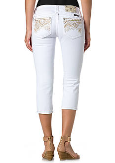 Miss Me White Denim Capris