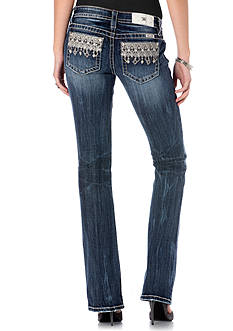 Miss Me Aztec Embroidered Bootcut Jeans