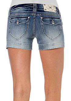 Miss Me Clean Flap Pocket Short