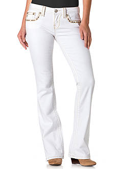 Miss Me White Bootcut Jeans