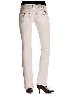 Miss Me White Flap Pocket Bootcut Jean