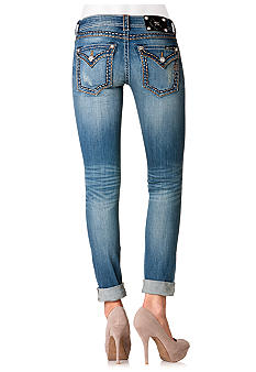 Miss Me Flap Pocket Ankle Cuff Skinny Jean