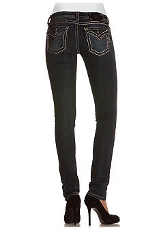 Miss Me Stitched Flap Pocket Skinny Jean