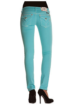 Miss Me Colored Flap Pocket Skinny Jean