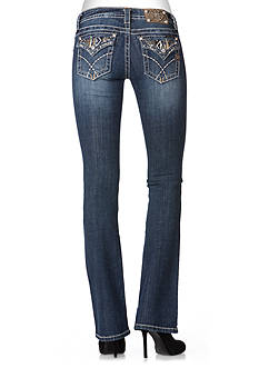 Miss Me Embroidered Flap Pocket Boot Cut Jean