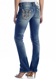 Miss Me Texas Horseshoe Cross Pocket Straight Leg Jean