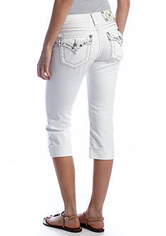 Miss Me Exclusive Flap Pocket Capri
