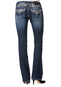 Miss Me Animal Yoke Flip Pocket Jean